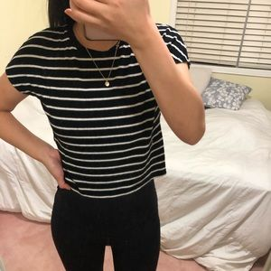 Cute striped Zara top slightly cropped